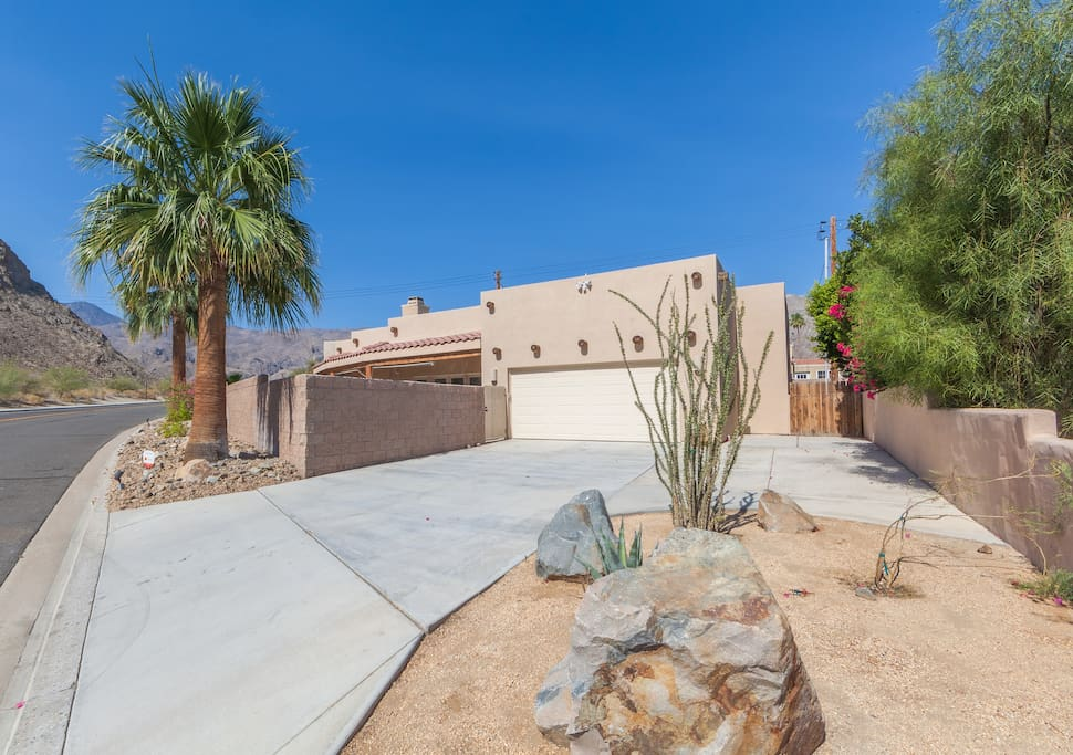 Santa Fe style desert home - fully enclosed for your protection and privacy