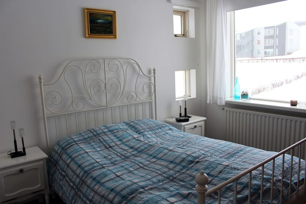 Spacious, clean, bright room with comfortable bed.
