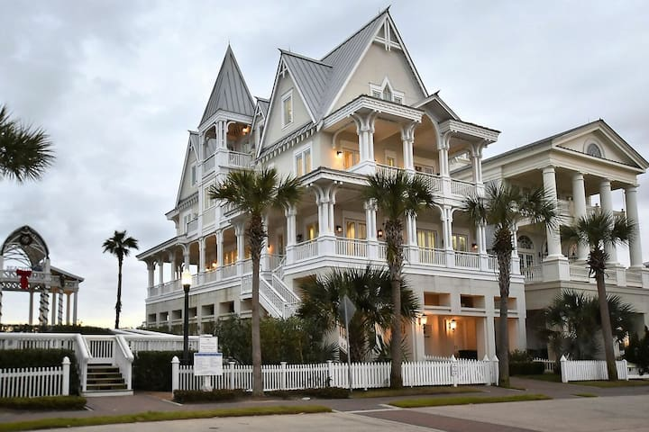 Be Here Now!  6 bedroom, 6.5 baths, beachfront, Beach Town, Galveston!