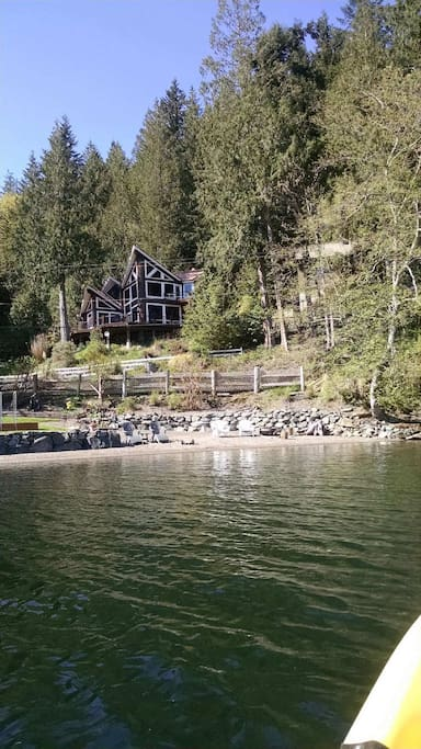 view of house/beach from water