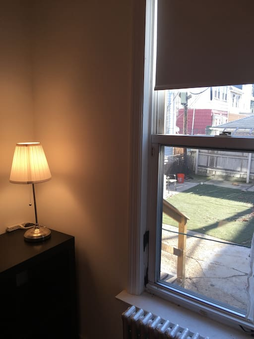 Bedroom shelf and window