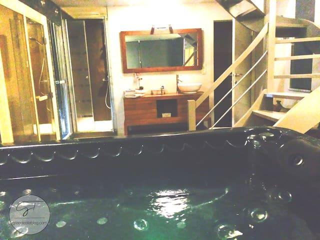 La Suite de Daphné avec jacuzzi, sauna et hammam! - Fosses-la-Ville - Bed & Breakfast