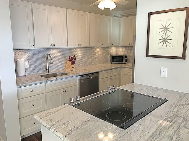 Brand new, upgraded kitchen with stainless steel appliances and soft close cabinets