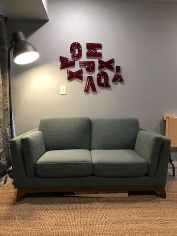 Lower level sofa