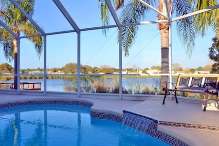 Villa with private Pool, lake view - Port Richey