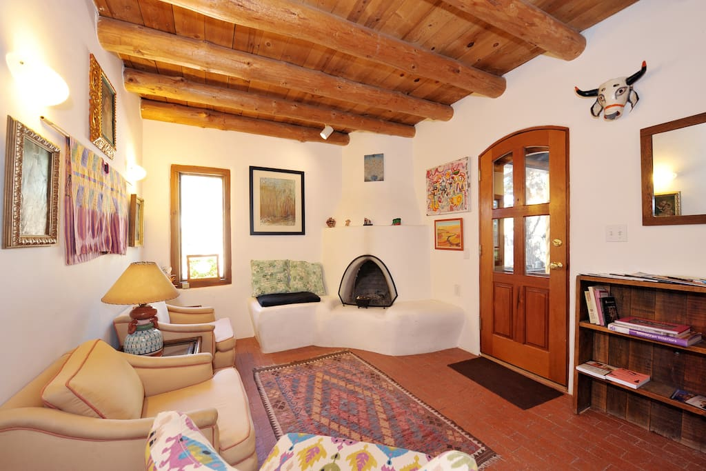 Living space with kiva.