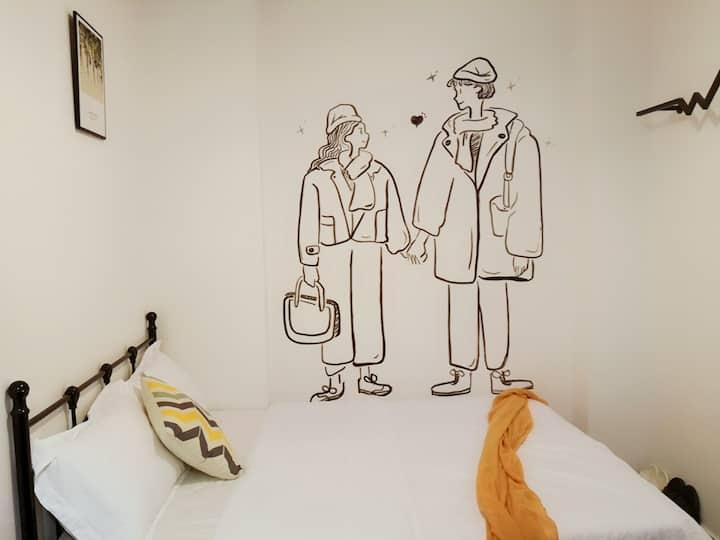 【方块公寓】上下九步行街时尚品质大床房103