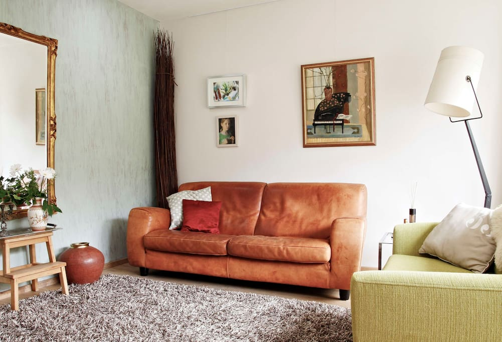 Living room below dike level