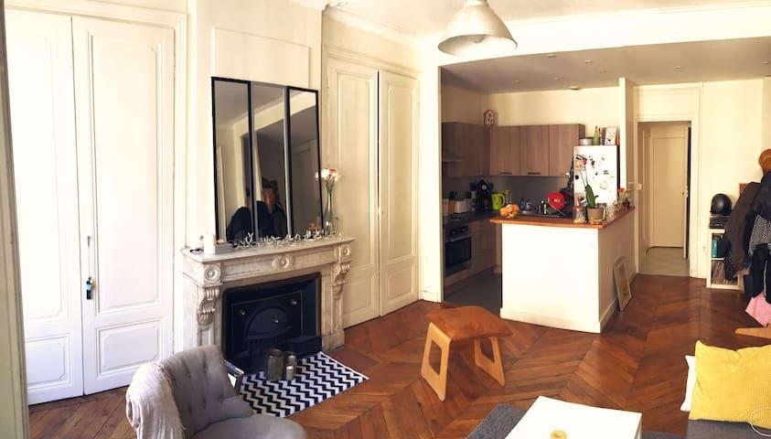 Le chaleureux appartement de la Rue Victor Hugo ! - Lyon - Lägenhet