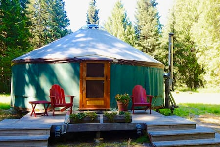 Glamp in Private N ID Forested Yurt - Sandpoint