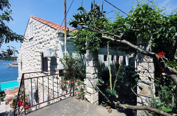 Room with terrace and sea view Pomena (Mljet) (S-4929-a)