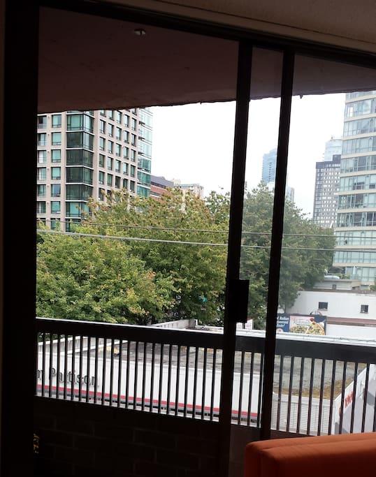 City from the balcony