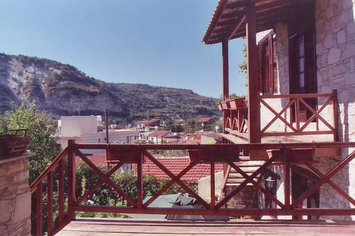 Views of the village Panayia from one of the balconies.