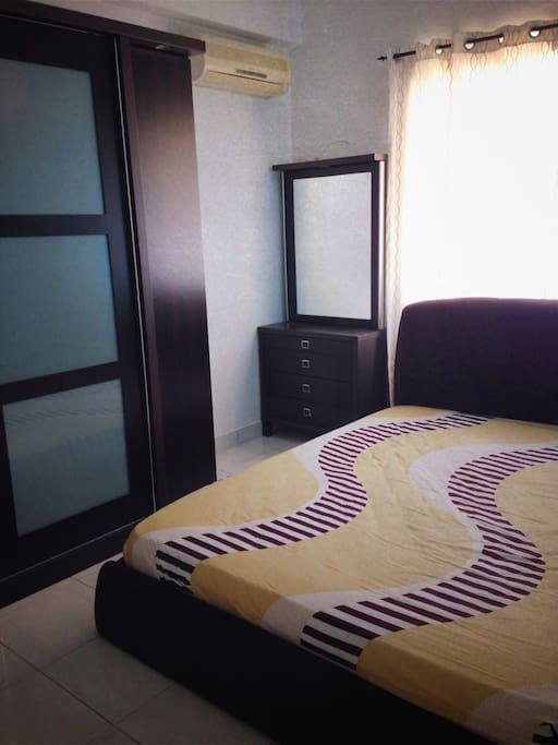 Your private bedroom with new bedsheets for the whole duration of your stay