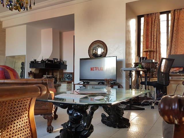 Sunny Room in a Spacious Duplex
