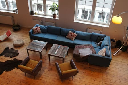 Cosy 170m2 loft with 3 spacious rooms - Hamburg - Loft
