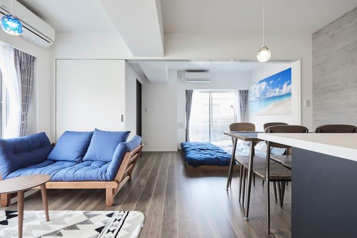Tokyo New-brand legal hostel coastal style 6pax+In