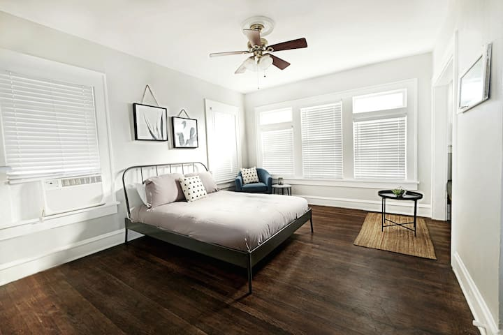 Plush Queen Size Bed and Sitting Area