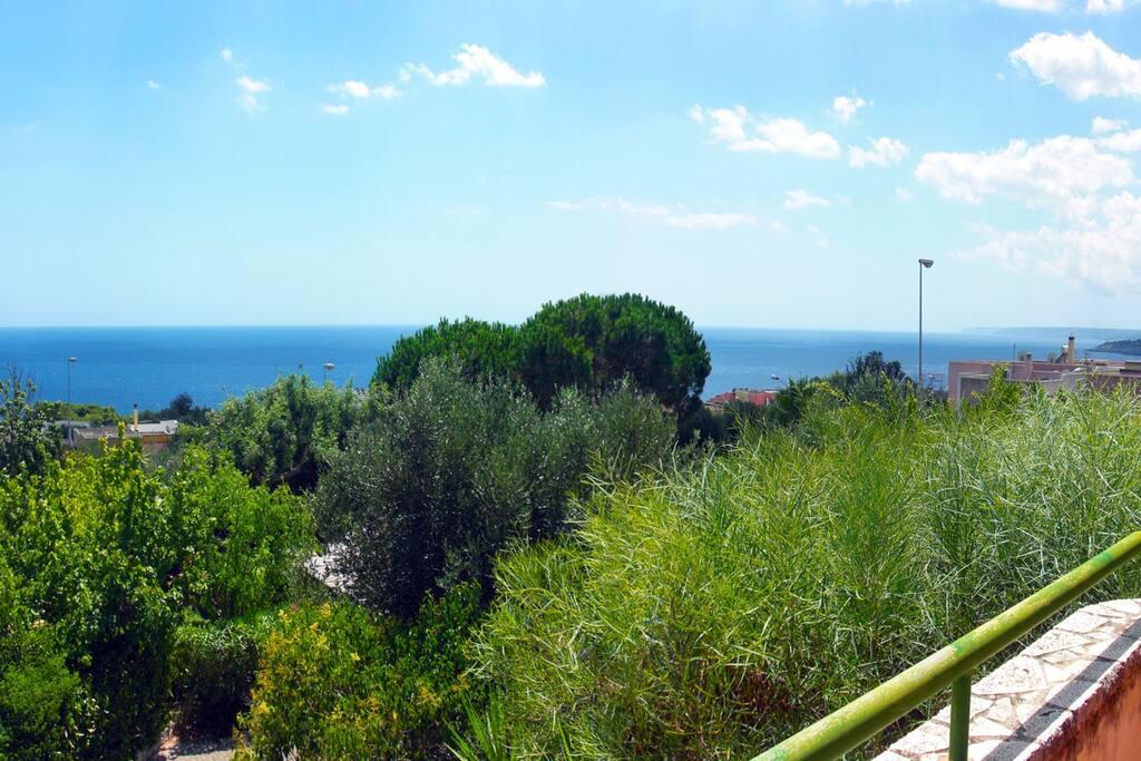 Vista panoramica dal tinello del primo piano.