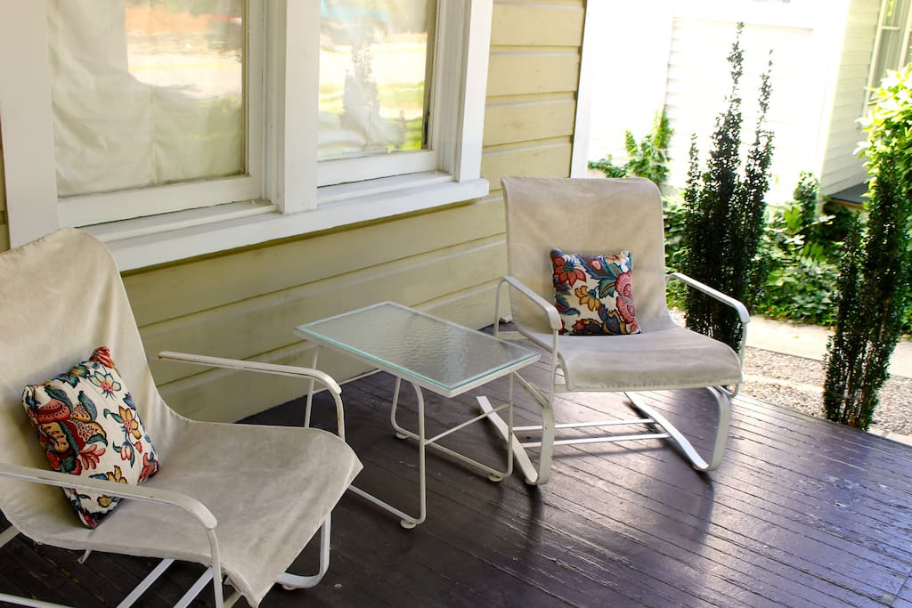 Front porch lounge area