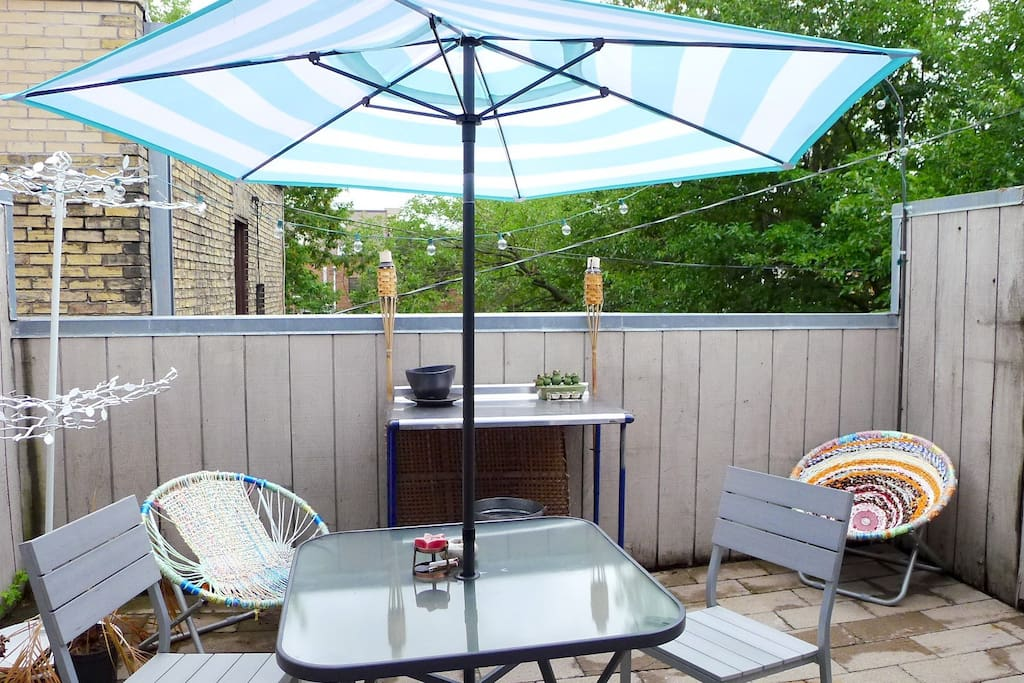 Patio (grill not pictured)