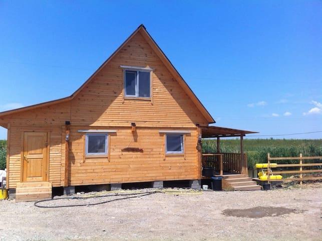 Уютный домик из бруса на берегу рыбацкого пруда! - Lvovskoye - Ev