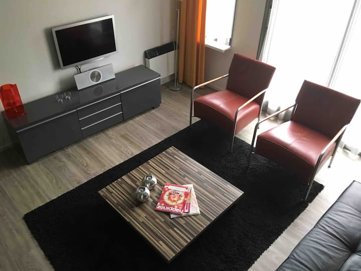 Luxe appartement 3.kamer in Hollum+terras& Zwembad