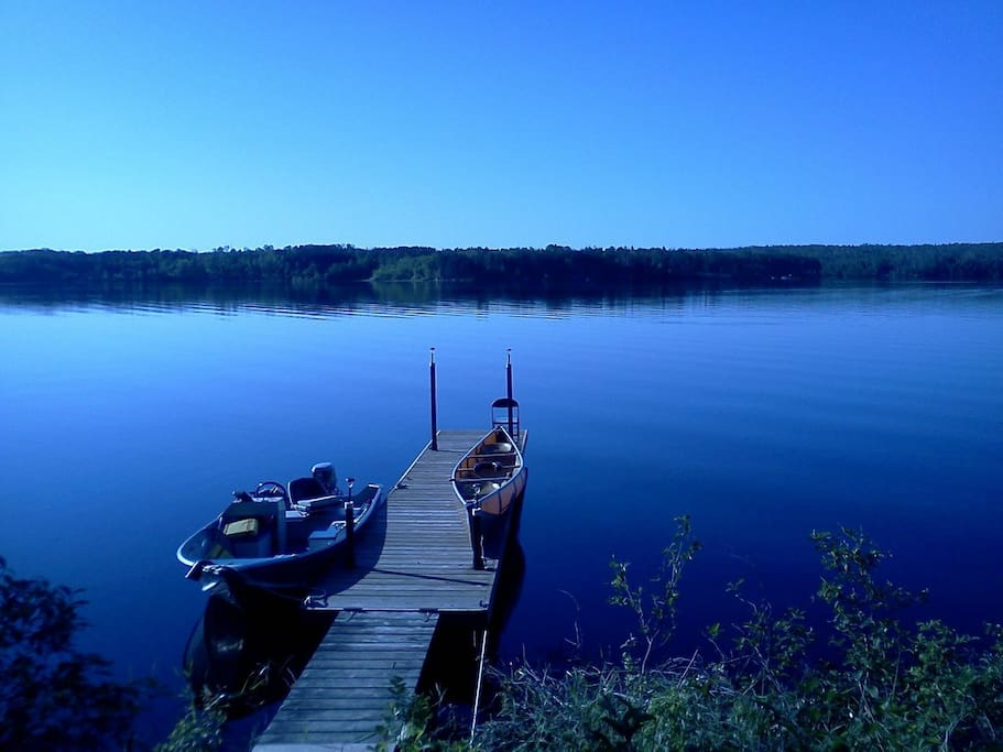 The lake from our dock.