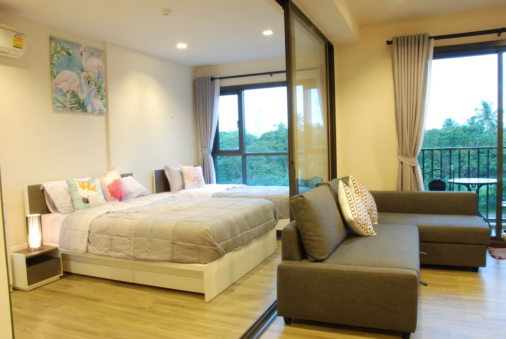 Cha-am Huahin Family Room with 2 Bed and Sofa bed