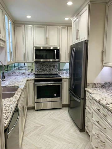 Totally remodeled and well-appointed  kitchen with new appliances