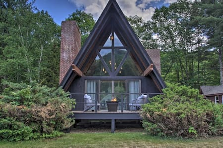 Drift Away Saco River Front A-Frame with a View