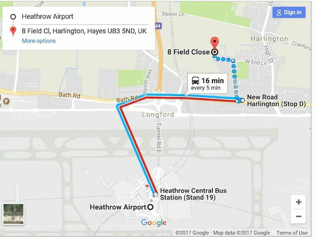 map and directions from terminal 1 2 and 3