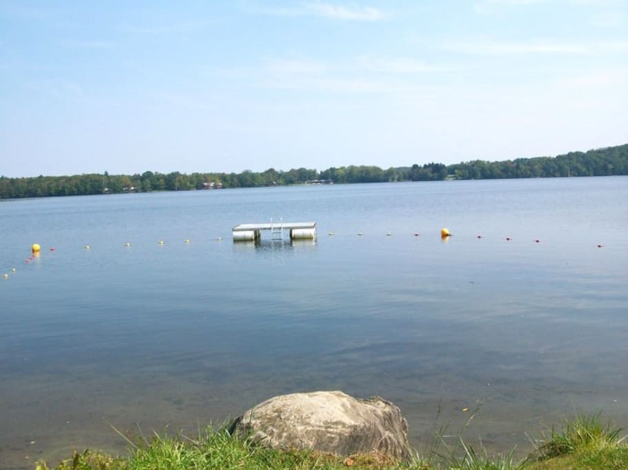 Picture of lake taken from association beach