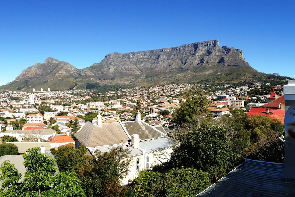 You won't forget this view! Enjoy overlooking the city and Table Mountain from the living areas and main bedroom.