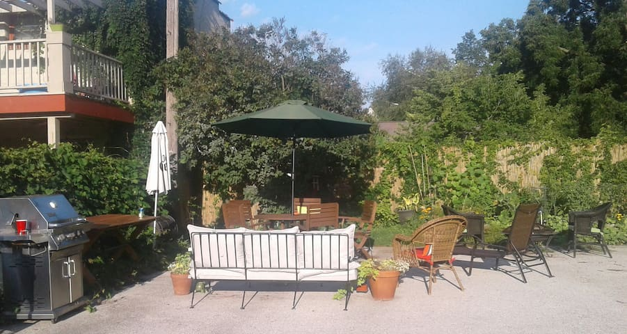 A little down time with your coffee or wine doesn't hurt.  Or grill out. Weather permitting and seasonal
