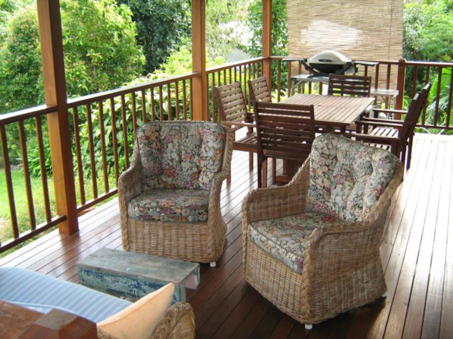 The large deck is the perfect place for relaxation!