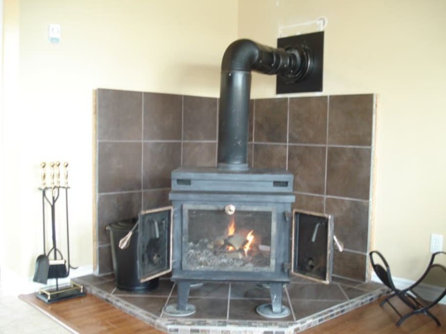 Fireplace for nights in spring & fall