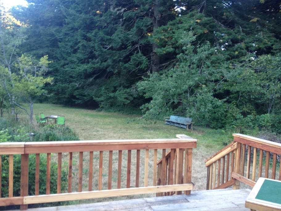 Your deck side, access to yards, orchards, forest, and more. Autumn