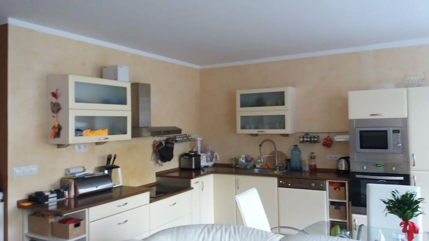 Homely apartment 15 min from Prague and airport