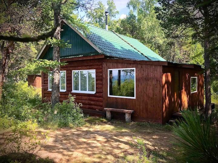 Деревянный Дом в лесу на берегу озера Байкал !