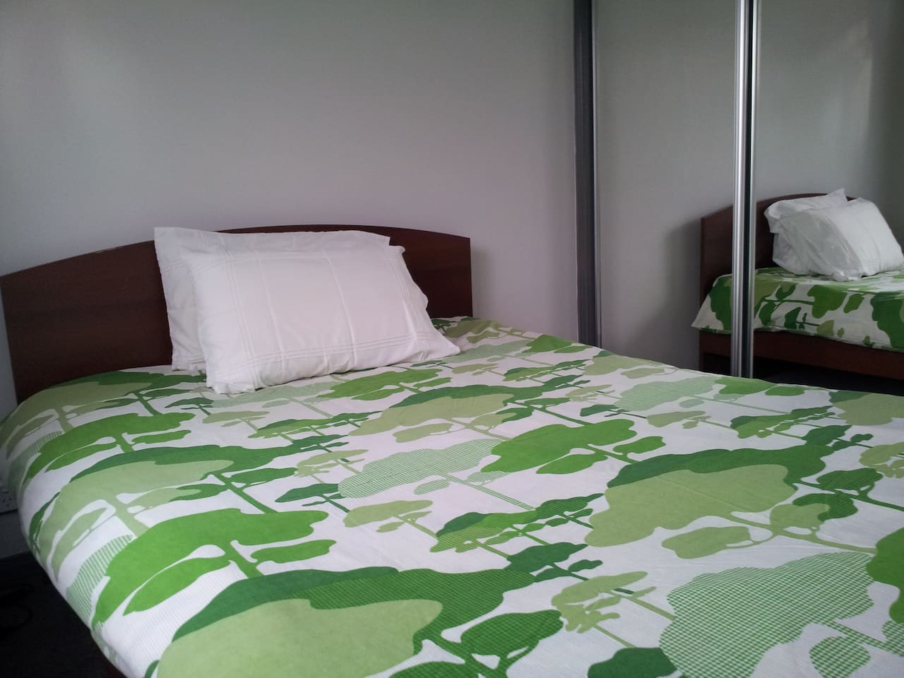 Double bed with wardrobe