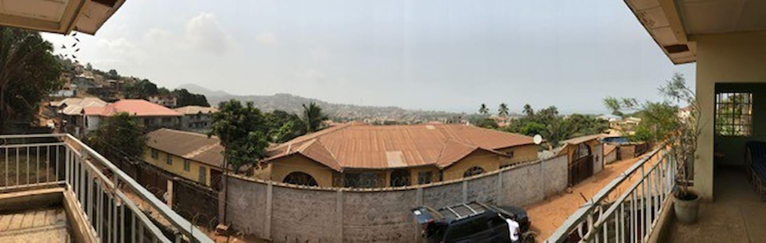 Balcony view of Juba, Lumley and the sea