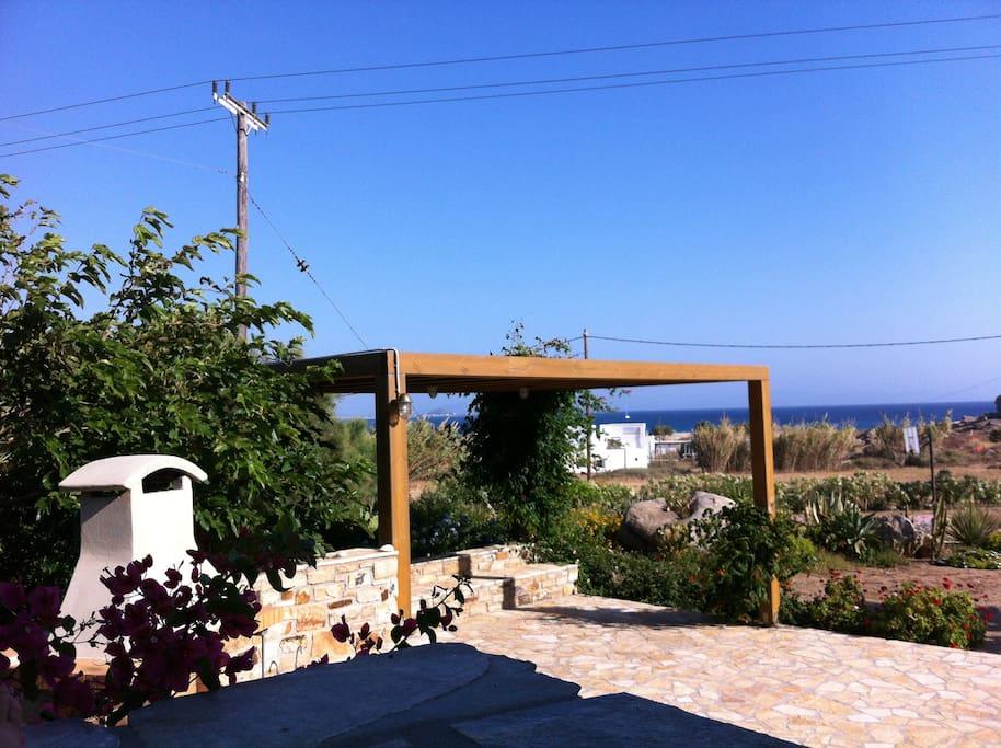 The pergola corner of the garden
