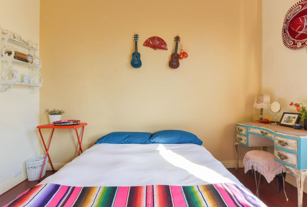 Your room has a beautiful Vintage 1950's Mexican feel.