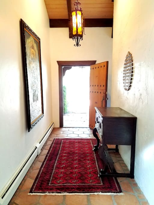 The grand entryway into the gorgeous spanish style Hacienda