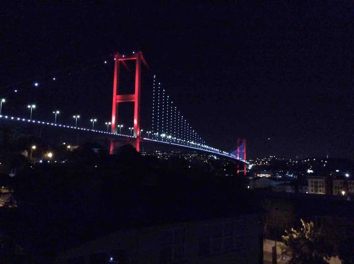 A great view of the Bosphorus. Rooftop location.