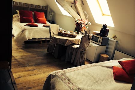 Romantic room with circular bed - Ferrière-la-Petite - Bed & Breakfast