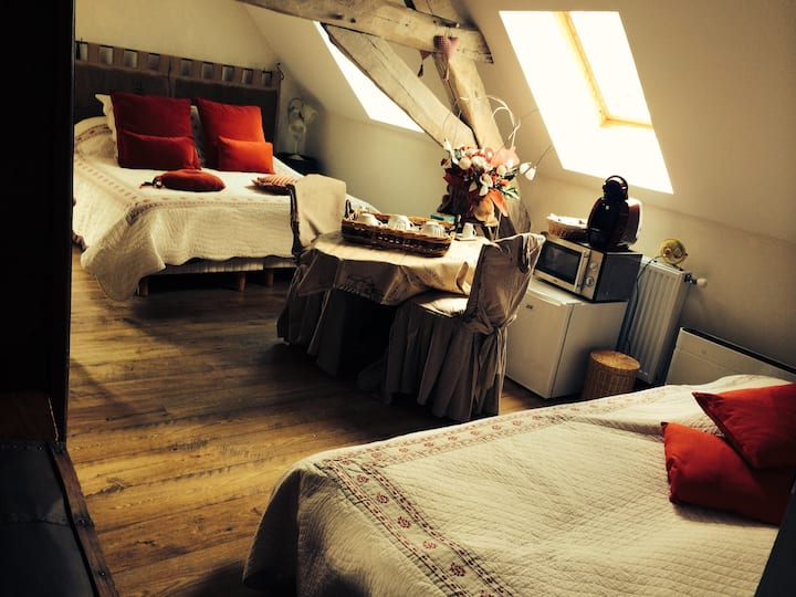 Romantic room in old water mill
