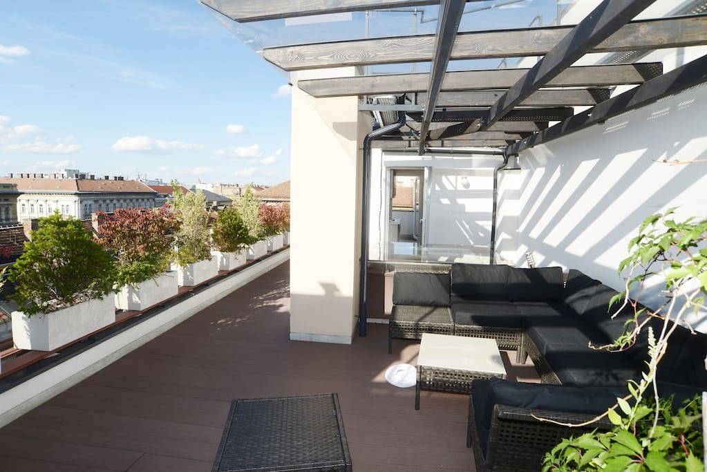 Large, private roof terrace.