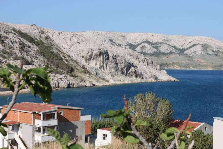 Two bedroom apartment with terrace and sea view Metajna (Pag) (A-4161-a)